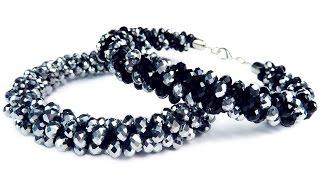 "DIY: Kumihimo blacelet with beads / Браслет ""Кумихимо"" с бисером из 8 нитей своими руками"
