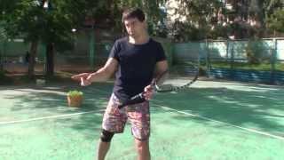 Теннис. Удар слева. Часть 1.