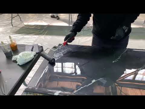 Metallic Epoxy Countertop Transformation | Live During Leggari Training!