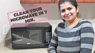 How to Clean A Microwave in 7 Min | Easy Kitchen Appliance Cleaning Ideas | Cleaning Tip in Hindi