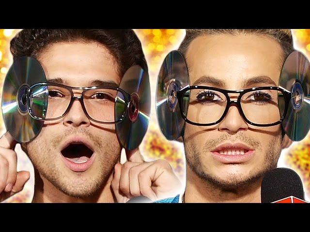 Celebs Try CD Glasses Flipping