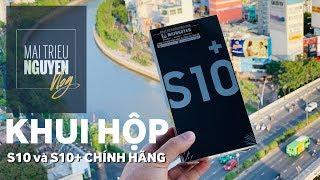 Khui hộp bộ đôi Galaxy S10 và S10+ chính hãng vừa có mặt tại Việt Nam