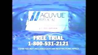 ACUVUE Bifocal Contact Lens commercial. Call for Free Trial (1999) thumbnail