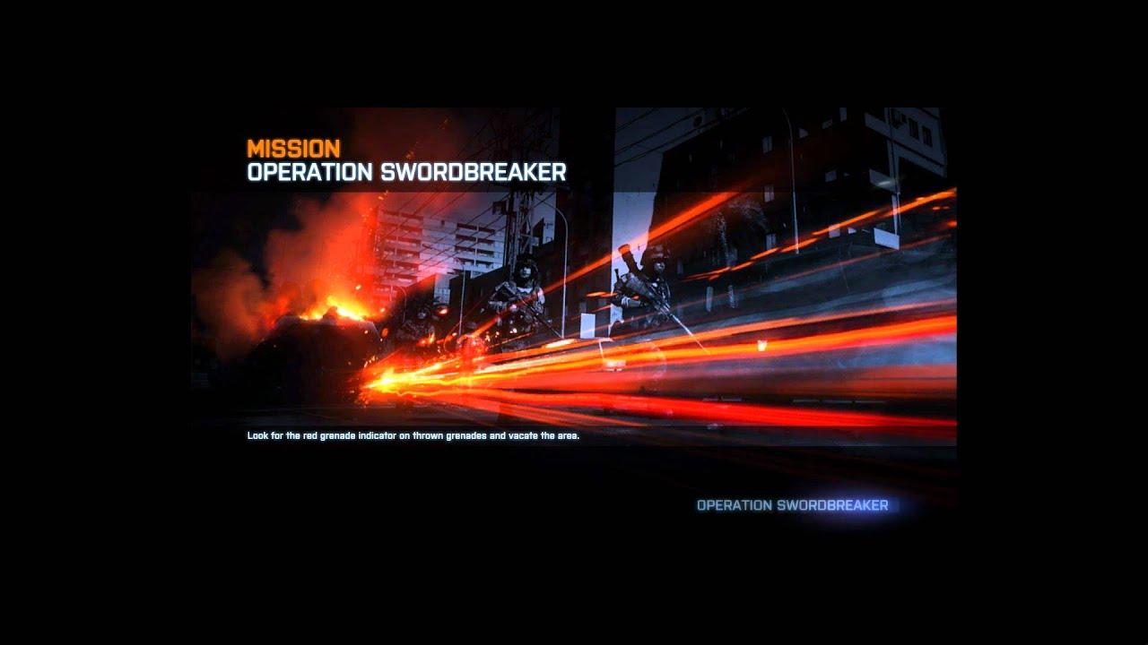 Battlefield 3: Operation Swordbreaker Loading Screen - YouTube