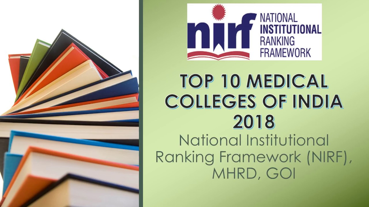 Top 10 Medical Colleges Of India 2018 Nirf Mhrd Goi Youtube