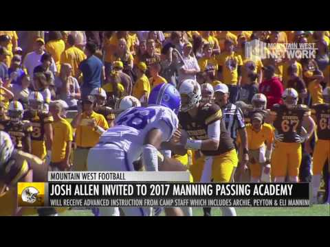 Wyoming's Josh Allen Invited to 2017 Manning Passing Academy