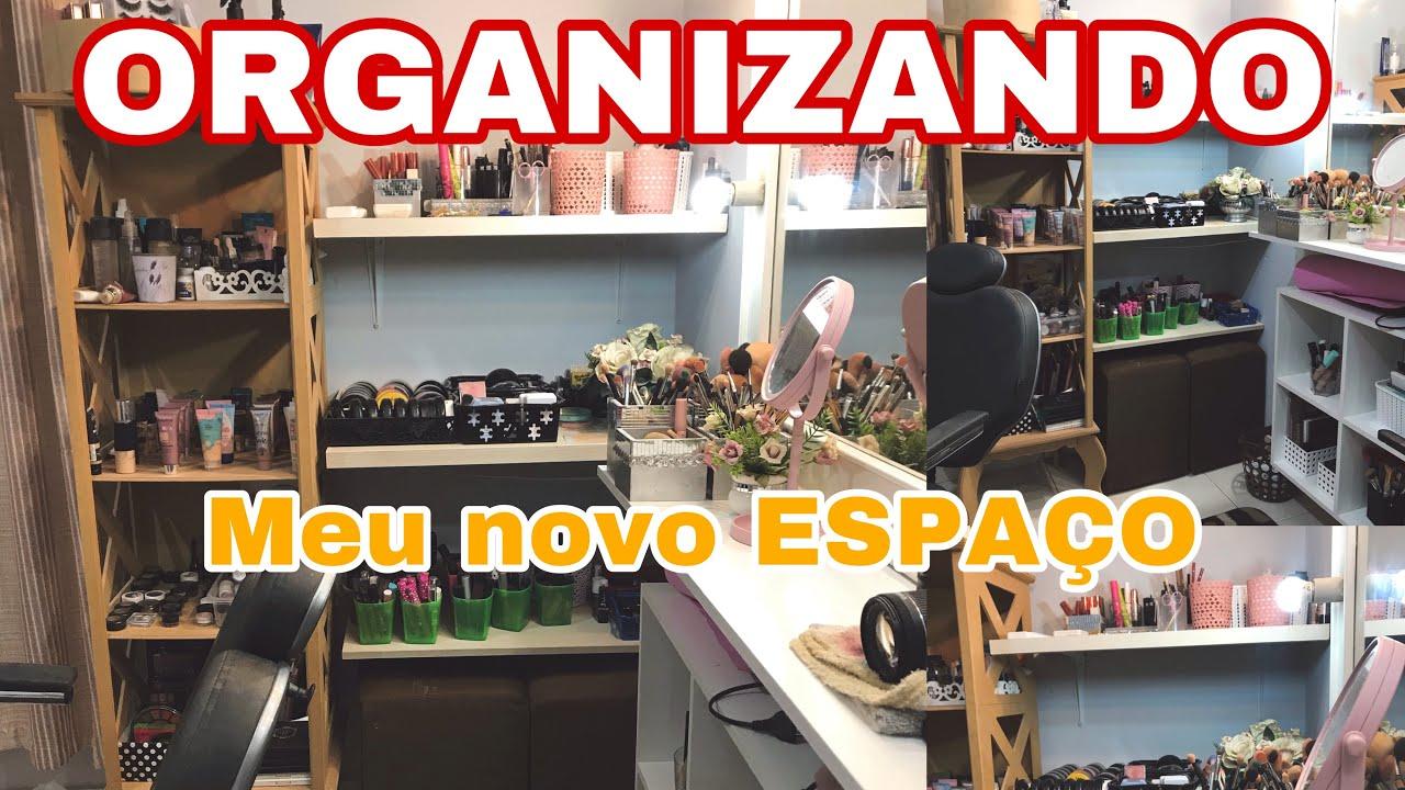 TOUR PELO MEU STUDIO DEPOIS DA REFORMA ORGANIZANDO AS MAKES