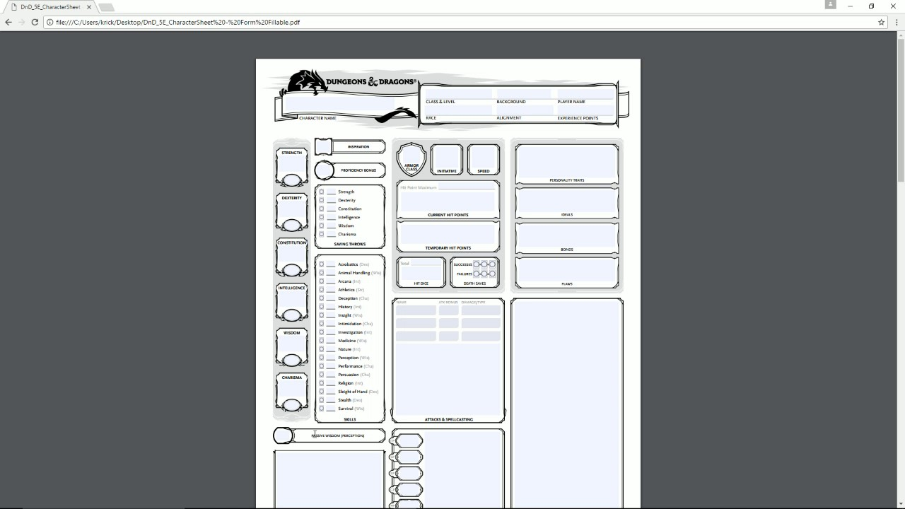 photograph regarding Dnd 5e Printable Character Sheet called Transferring earlier mentioned the 5E DD Persona Sheet *HOW In the direction of*