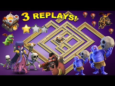 NEW TH11 WAR BASE 2018 Anti 2 Star With 2 Replays Anti Bowler Miner,E-Dragon,Anti Queen Walk |Coc