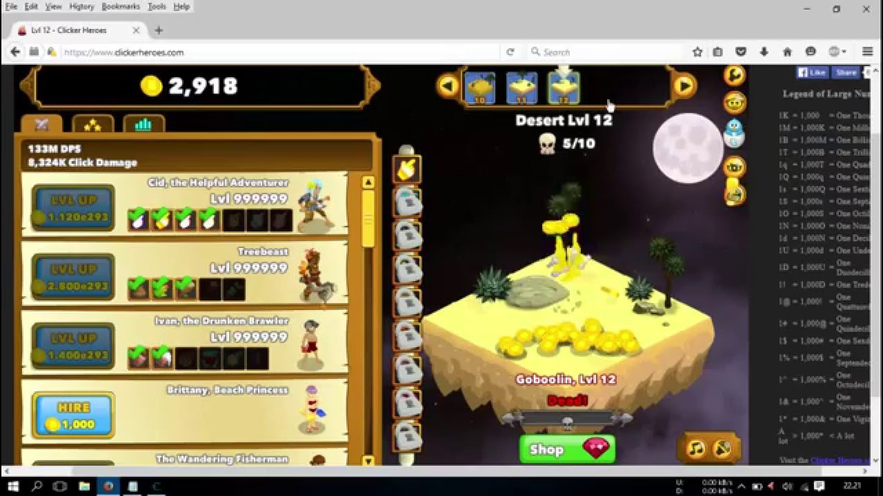 clicker heroes hacked game