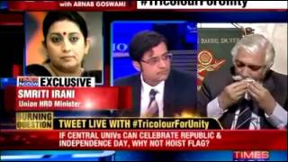 Emotional moments in the Times Now News Hour by Arnab Goswami