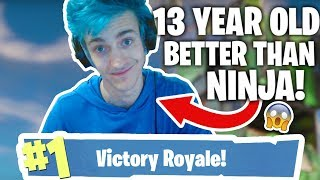 PLAYING WITH A 13 YEAR OLD BETTER THAN NINJA AT FORTNITE?