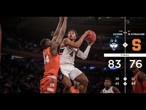 UConn Men's Basketball Highlights v. Syracuse 11/15/2018 (2K Empire Classic - Semifinal)
