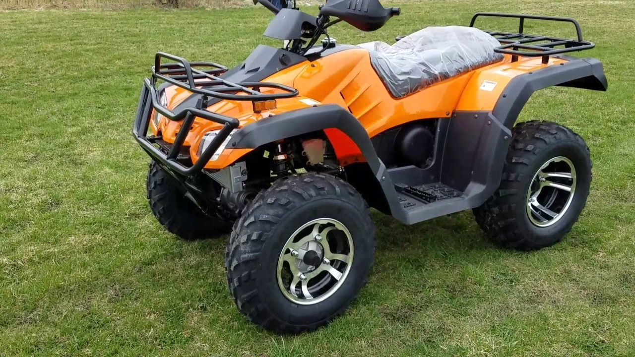 300cc 4x4 atv four wheeler for sale and review from saferwholesale [ 1280 x 720 Pixel ]