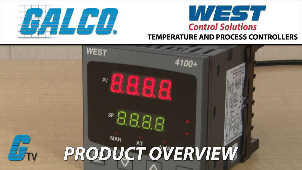 West Control Solution 4100, 6100 and 8100 Temperature and Process  Controllers