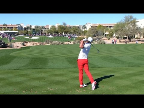 1241a849b0a Brooks Koepka nearly dunks his tee shot on No. 4 at Waste Management ...