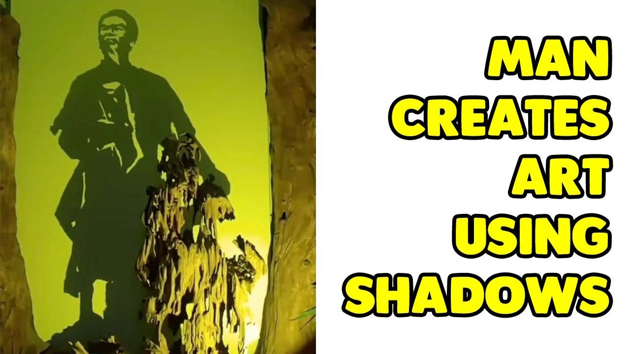 Download Man Creates Amazing 'Shadow Art'
