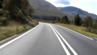 motorbike run accross glen coe a82 scotland