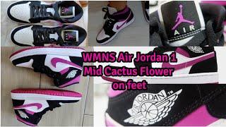 WMNS AIR JORDAN 1 MID 'CACTUS FLOWER'
