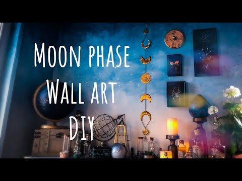 Moon Phase Wall Art DIY Tutorial With Polymer Clay To Look Like Hammered Brass Metal