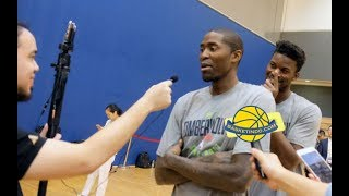 Jimmy Butler Pranks Jamal Crawford While Interviewed by www.basketindo.com