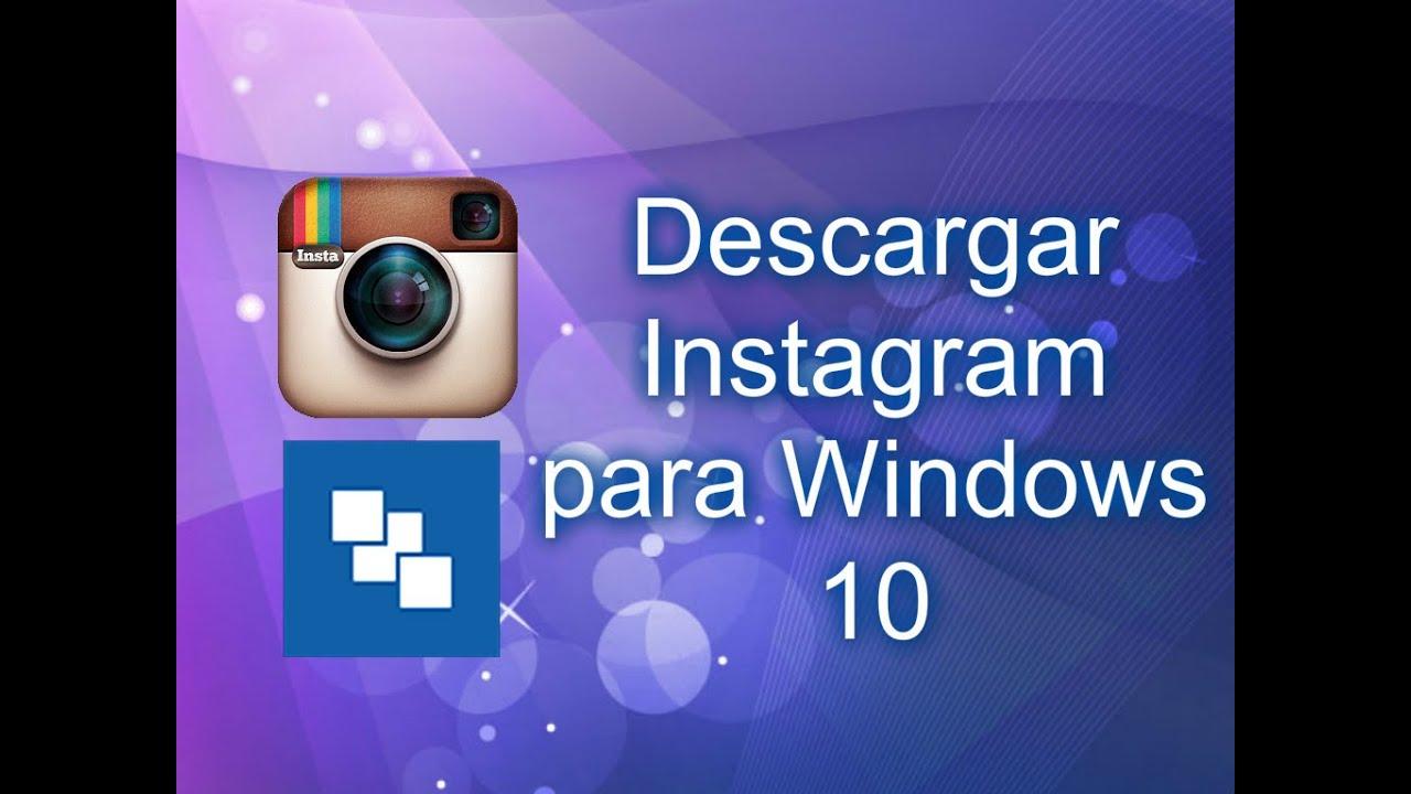 descargar instagram para mi pc windows 8
