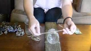 DIY Rustic Wall Jar Vase Hanging