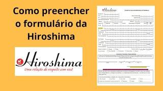 ba158d33a Ficha cadastral Hiroshima como preencher -Como solicitar forma de pagamento
