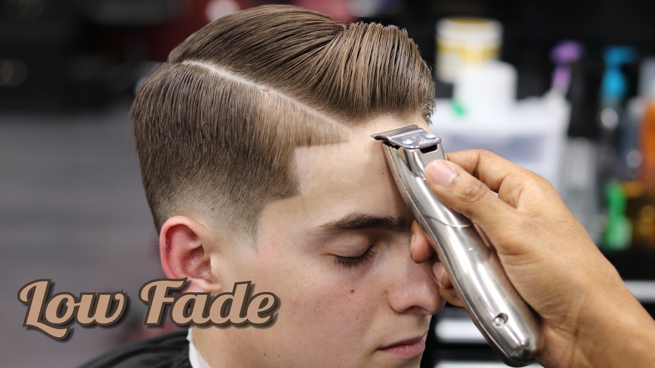 Haircut Tutorial Combover Low Fade Hard Part Blow Dry Style