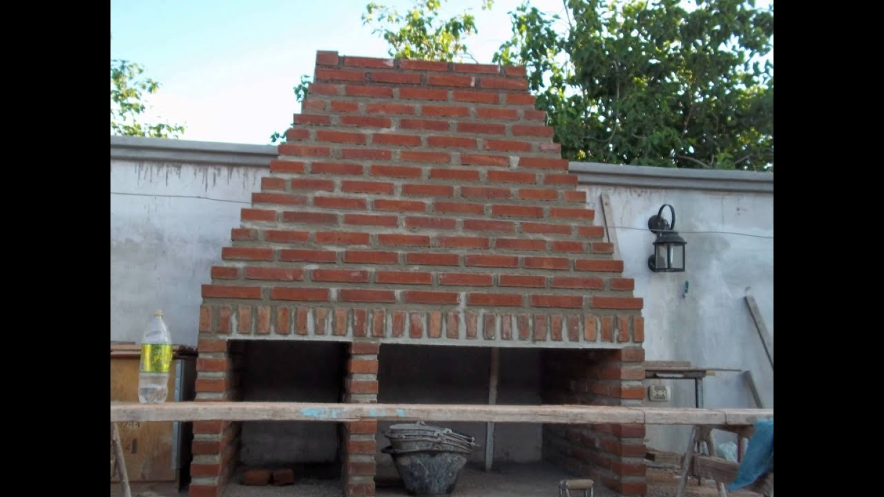 Horno y asador de ladrillos tuclame youtube for Construccion de chimeneas de ladrillo