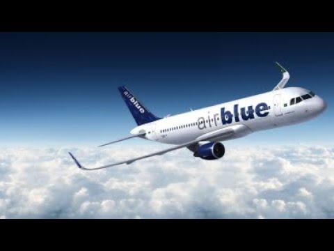 AirBlue Flight landing at Multan Airport #Multan #MultanAirPort