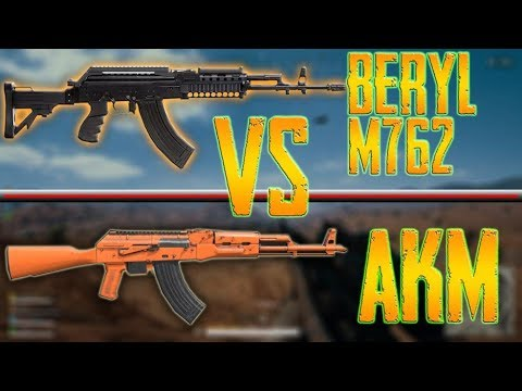 AKM Vs BERYL M762 COMPARISION Recoil Stats WHICH ONE IS BETTER Pubg Mobile YouTube