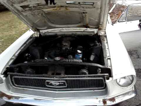 1968 Ford Mustang, First start after 17 years..
