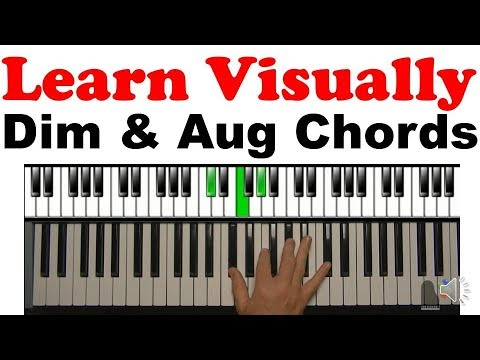How To Visually Learn Augmented Diminished Chords Youtube