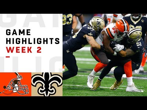 Browns vs. Saints Week 2 Highlights | NFL 2018