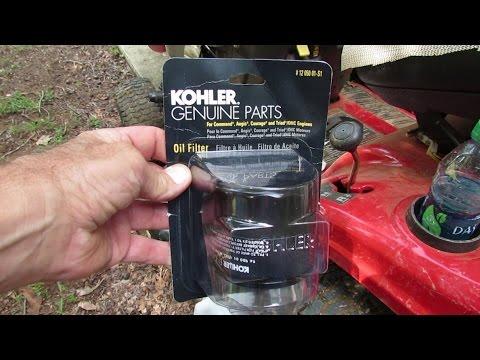 how to change oil in troy bilt push mower