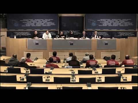 Greek shipbuilders & Coca-Cola Strikers Full Press Conference at the EU Parliament