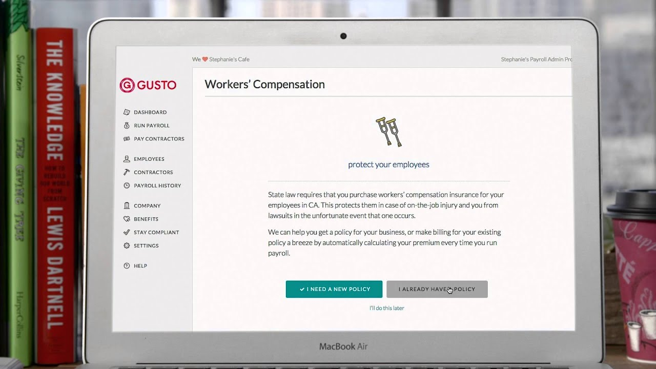 Worker's comp with Gusto