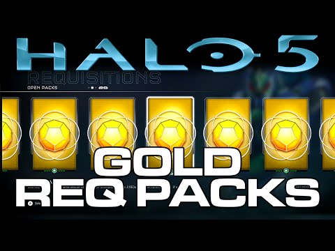 Halo 5: Guardians GOLD REQ Pack Opening! 32 Gold REQ Packs!