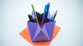 Pen Holder - How To Make Pen Holder - Pen Holder Making - Pen holder For kids - School supplies DIY