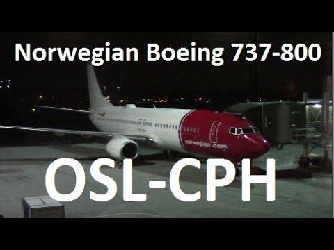 Norwegian Flight DY932 Oslo Copenhagen