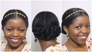 Elegant Twisted Bun Updo Perfect For Formal/Wedding Occasion | Natural Hair | MissT1806