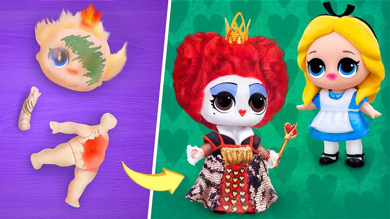 ¡Nunca Eres Grande para Las Muñecas!10 Diys De Alicia en el País de Las Maravillas para Lol Surprise
