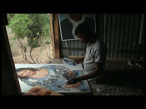 Congo, PORTRAIT DE L'ARTISTE PEINTRE A. MASSAMBA