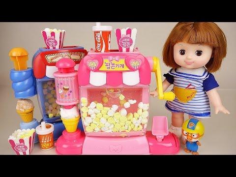 Baby Doll Pop corn maker toy Pororo and PlayDoh
