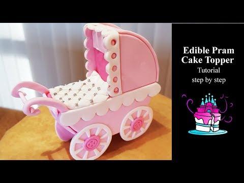 Pram Cake Topper Tutorial