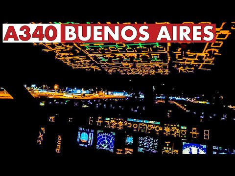 Piloting The AIRBUS A340 To Buenos Aires | Fantastic Views!