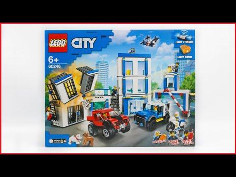 LEGO City 60246 Police Station Speed Build Review | lego cảnh sát city