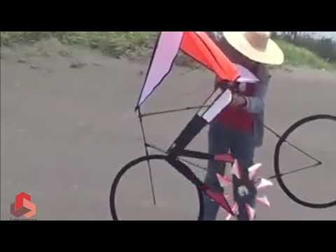 Kreatif... Sepeda Layang Layang Terbang ...