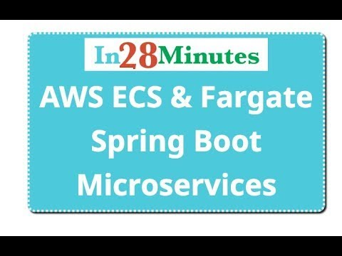 AWS Fargate and ECS - Deploy Spring Microservices
